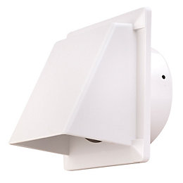 Manrose White External Hooded Wall Vent (W)110mm