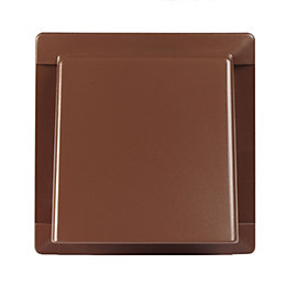 Manrose Brown External Hooded Wall Vent (W)110mm