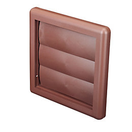 Manrose Brown External Flap Wall Vent (H)140mm