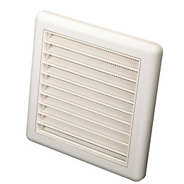 Manrose White External Louvred Wall Vent (H)140mm