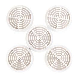 Manrose White Circular Soffit Vent Of 5
