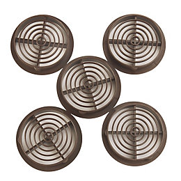 Manrose Brown Circular Soffit Vent, Pack of 5