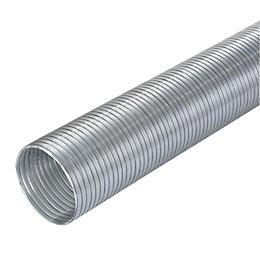 Manrose Silver Semi Rigid Hose (H)140mm, Pack of