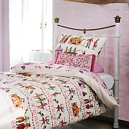 Emma Bridgewater Circus Pink & White Single Bed