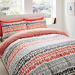 Lotta Jansdotter Follie Patterned Coral Single Bed Set