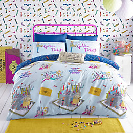 Roald Dahl Willy Wonka Multicolour Single Bed Set
