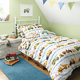 Emma Bridgewater Men At Work Multicolour Single Bed