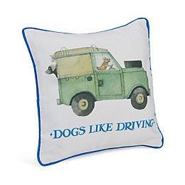 Emma Bridgewater Dogs Like Driving Multicolour Cushion