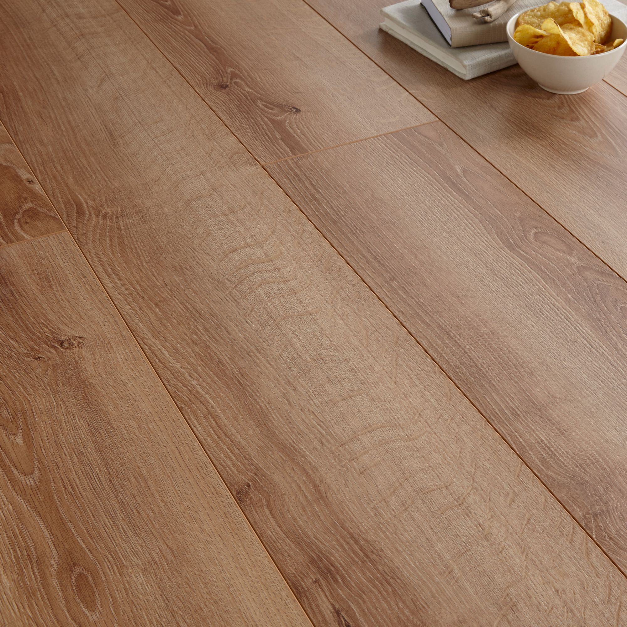 Bq Kitchen Laminate Flooring Natural Oak Effect Laminate Flooring 175 Ma2 Pack Departments