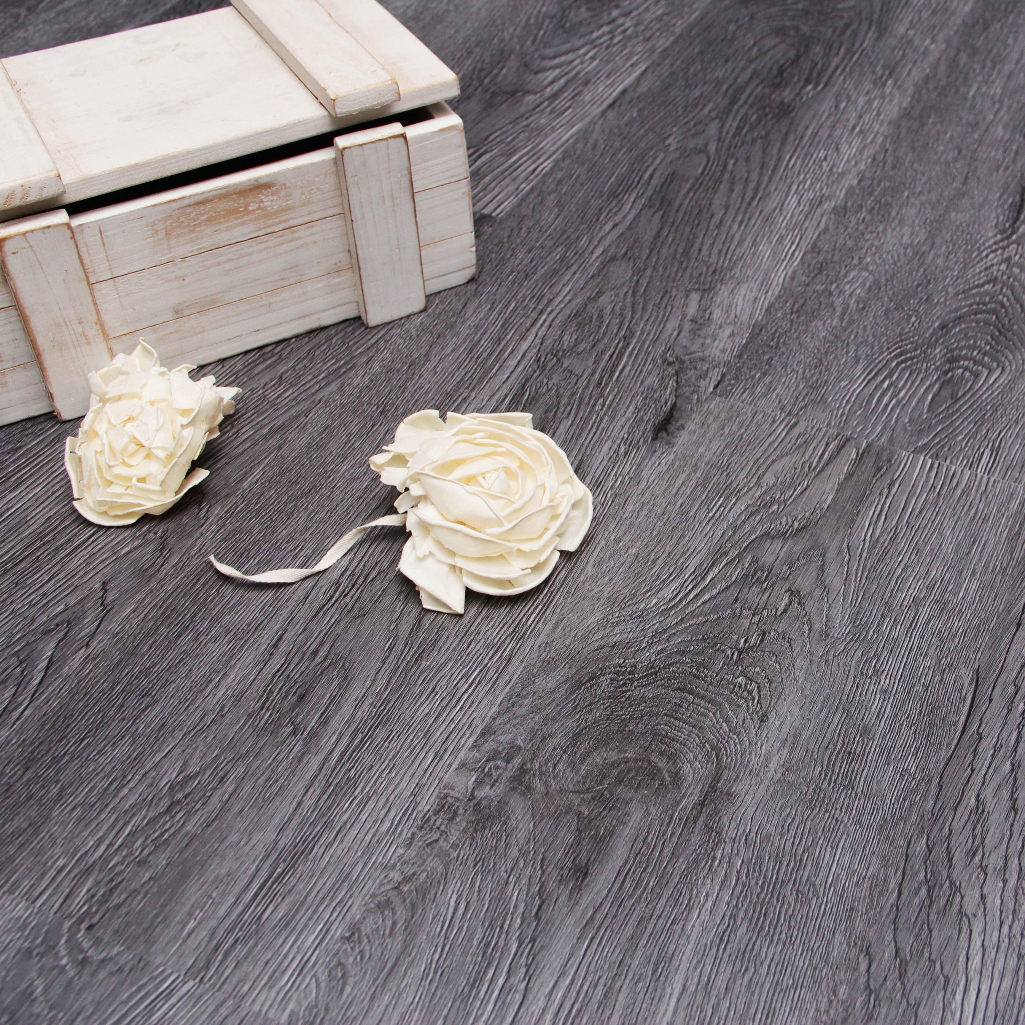 Charcoal Effect Wood Finish Luxury Vinyl Click Flooring