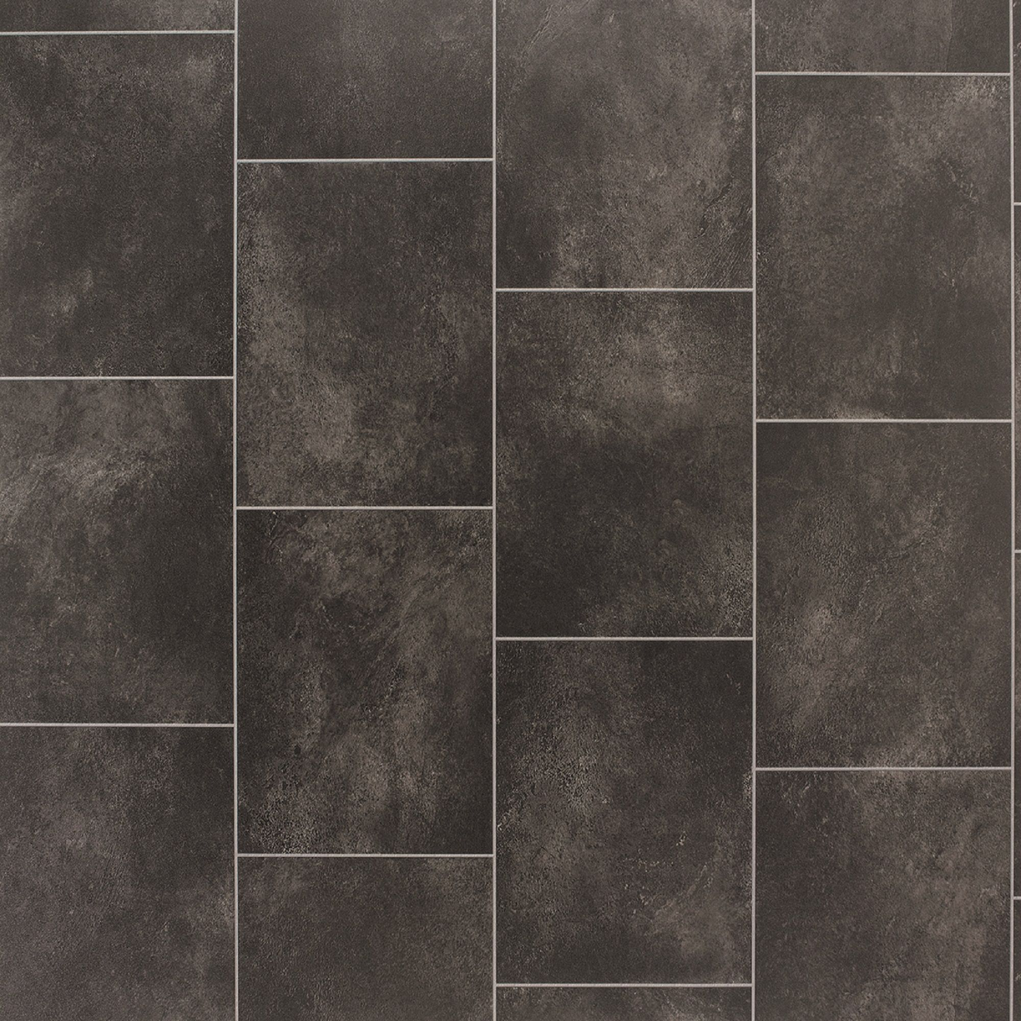 Black Slate Tile Effect Vinyl Flooring 4 M 178 Departments