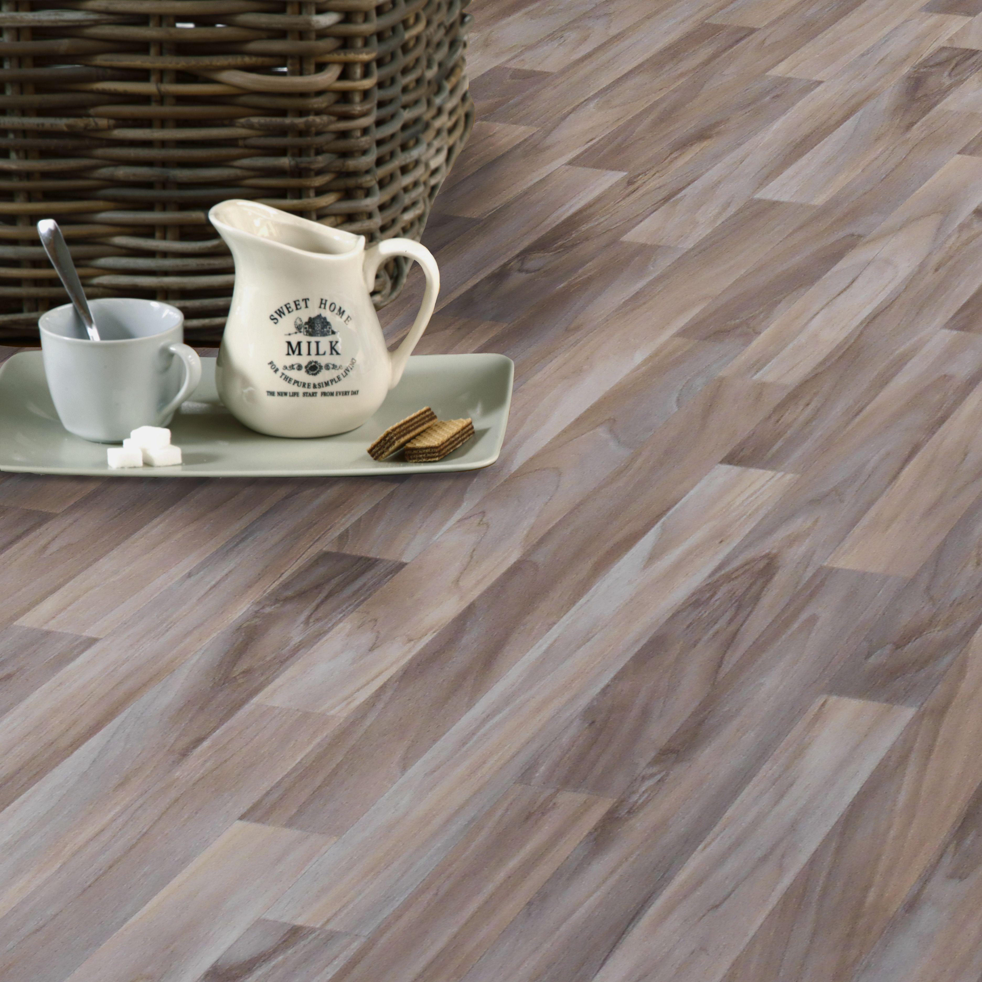 Natural wood effect vinyl flooring 4 m departments diy at bq dailygadgetfo Choice Image