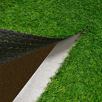 Artificial grass being laid using self-adhesive artificial grass joining tape