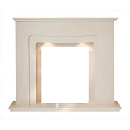 Honey Crème Marble Micro Marble Fire Surround