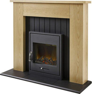 henson black led electric stove suite departments diy at b u0026q