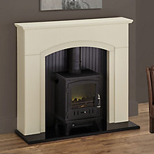 ROTHERHAM BLACK LED ELECTRIC STOVE SUITE