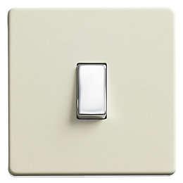 Varilight 10A 2-Way White Chocolate Single Light Switch