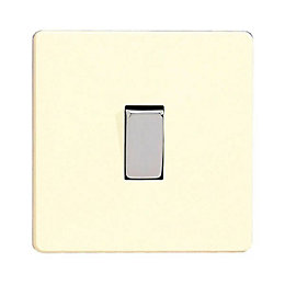Varilight 10A 3-Way Single White Chocolate Single Switch