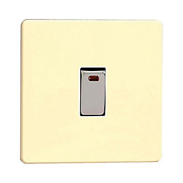 Varilight 20A 1-Way White Chocolate Single Switch with