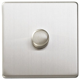 Varilight 2-Way Single Brushed Steel Dimmer Switch