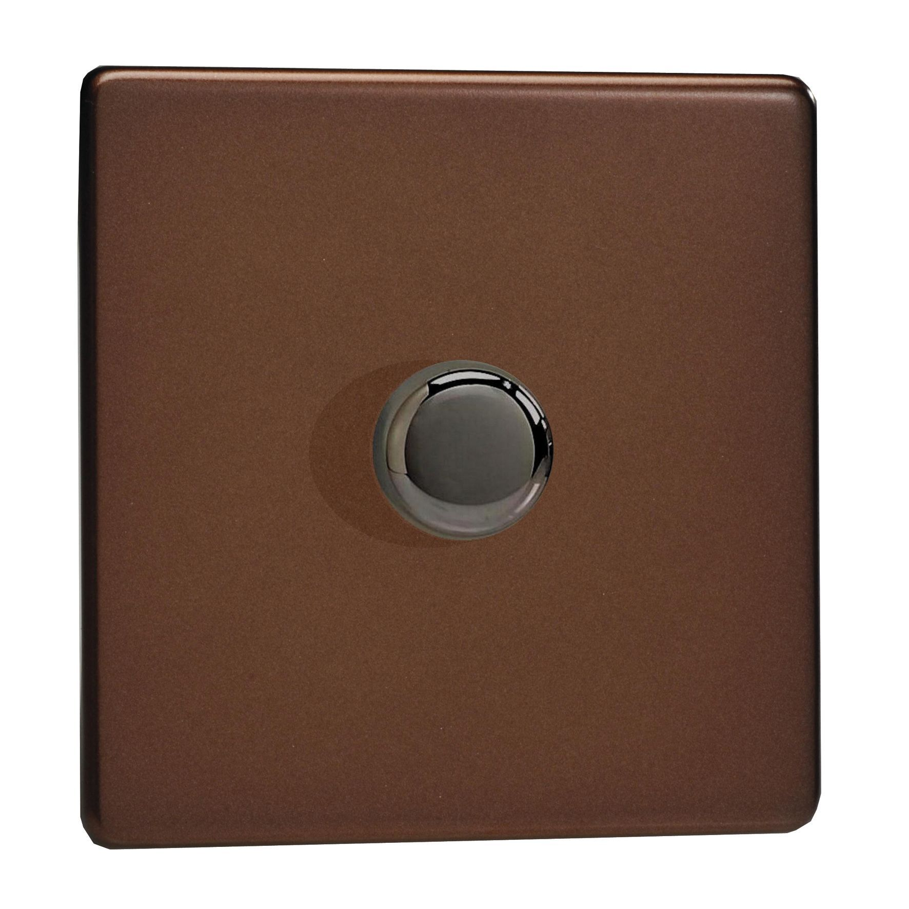 varilight 2 way single mocha satin dimmer switch departments diy at b q. Black Bedroom Furniture Sets. Home Design Ideas