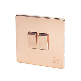 Varilight 10A 2-Way Double Anti-Microbial Copper Light Switch