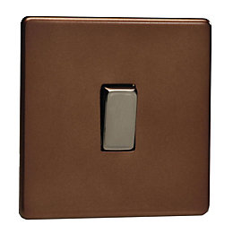 Varilight 10A 2-Way Mocha Single Light Switch