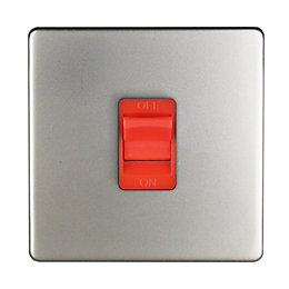 Varilight 45A 1-Way Single Satin Cooker Switch
