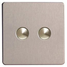 Varilight 6A 2-Way Silver Single Push Light Switch