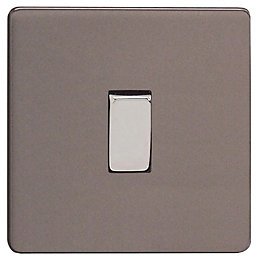 Varilight 10A 3-Way Slate Grey Intermediate Rocker Switch