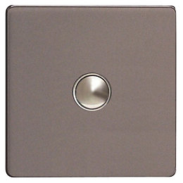 Varilight 6A 2-Way Slate Grey Single Light Switch