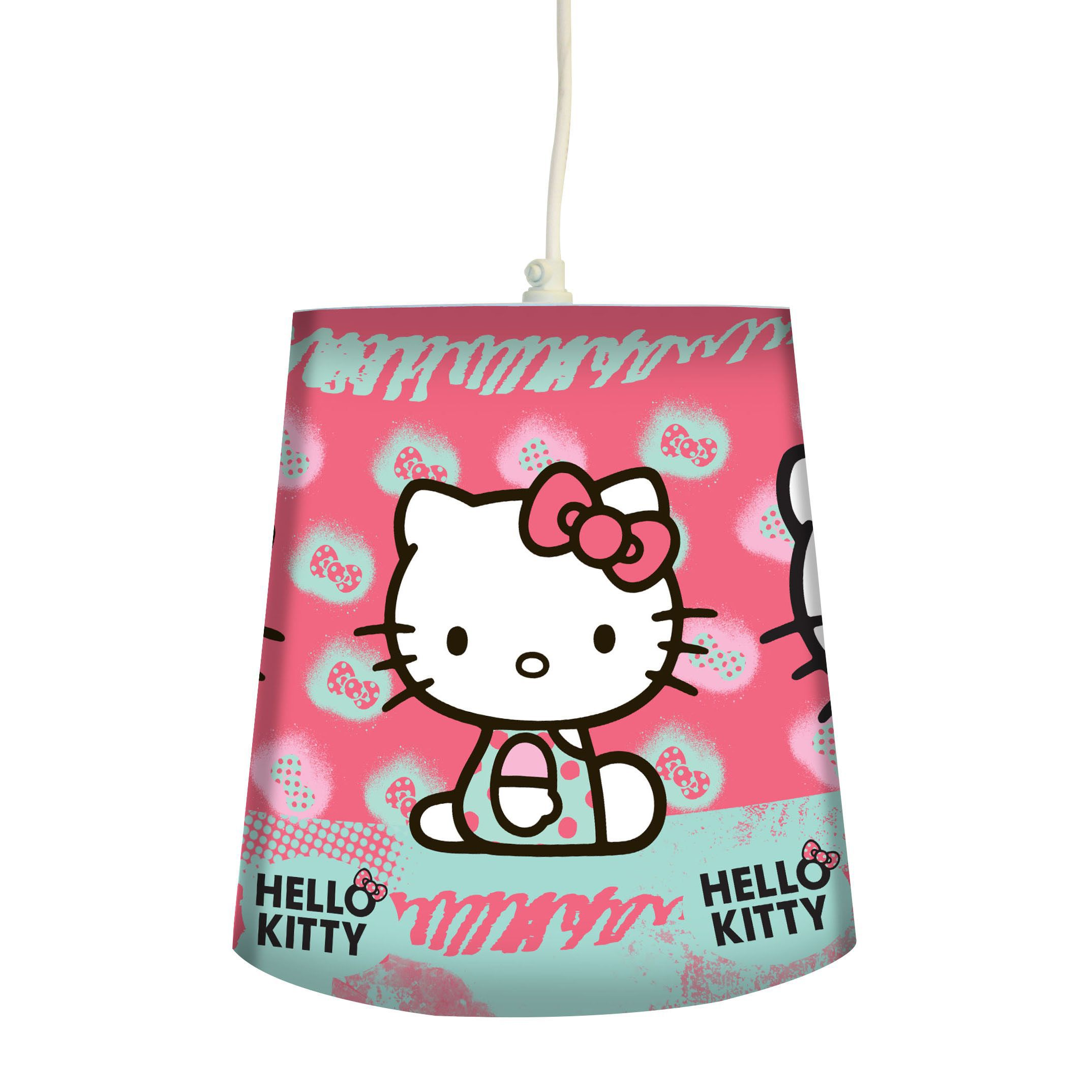 hello kitty pink printed hello kitty light shade d 240mm departments diy at b q. Black Bedroom Furniture Sets. Home Design Ideas
