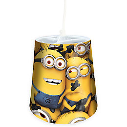 Minions Yellow Printed Light Shade (D)24cm