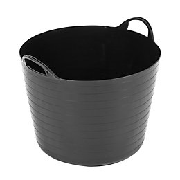 Strata Black 40L Plastic Storage Tub