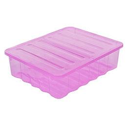 Strata Supa Nova Pink 30L Plastic Storage Box