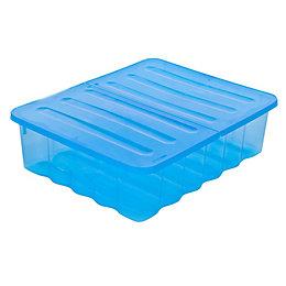 Strata Supa Nova Blue 30L Plastic Storage Box