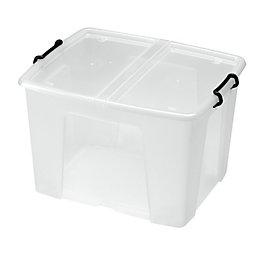 Strata Clear 65L Plastic Storage Box