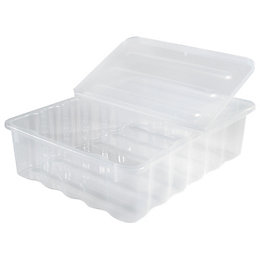 Supa Nova Clear 30L Plastic Storage Box