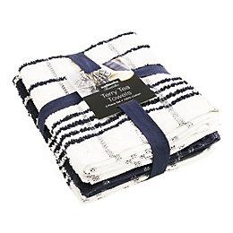 Sabichi Black & White Tea Towel Bale, Set