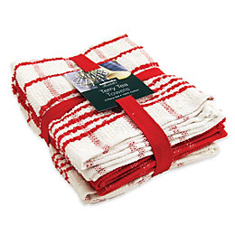 Sabichi Red & White Tea Towel Bale, Set