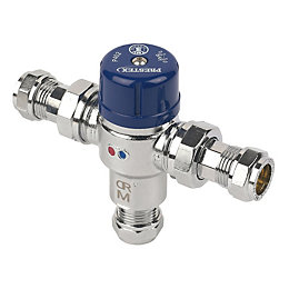 Pegler Prestex Chrome Effect Thermostatic Mixing Valve