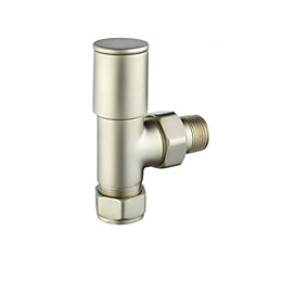 Terrier Decor Silver Nickel Plated Angled Radiator Valve