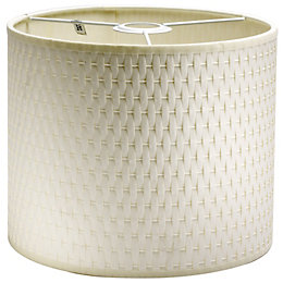 Raffia White Raffie Cylinder Light Shade (D)21cm