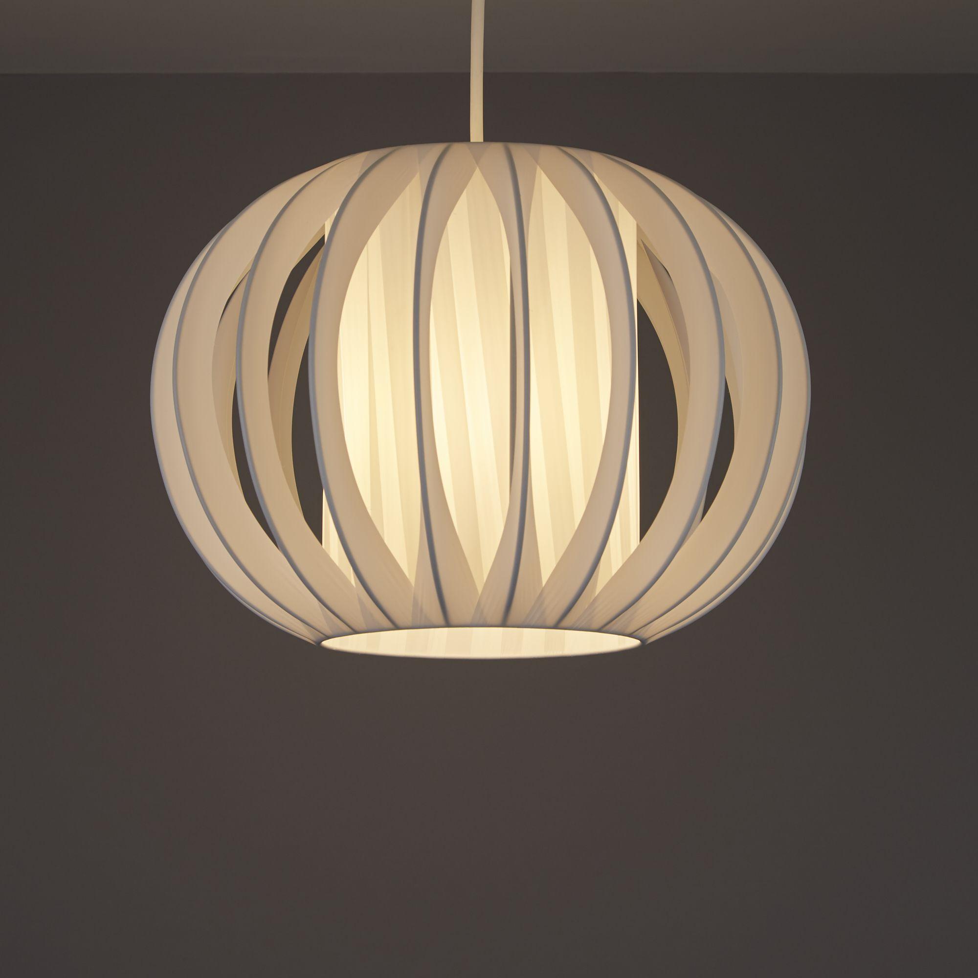 White Side Pleat Onion Light Shade D 320mm