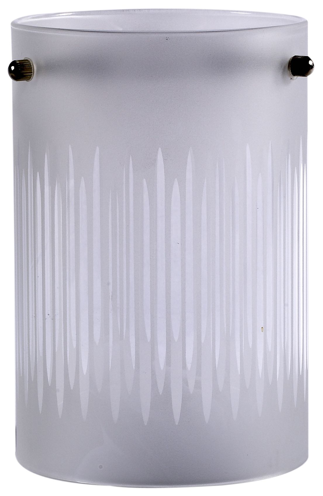 White Frosted Etched Lines Light Shade (d)100mm