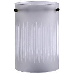 White Frosted Etched Lines Light Shade (D)10cm