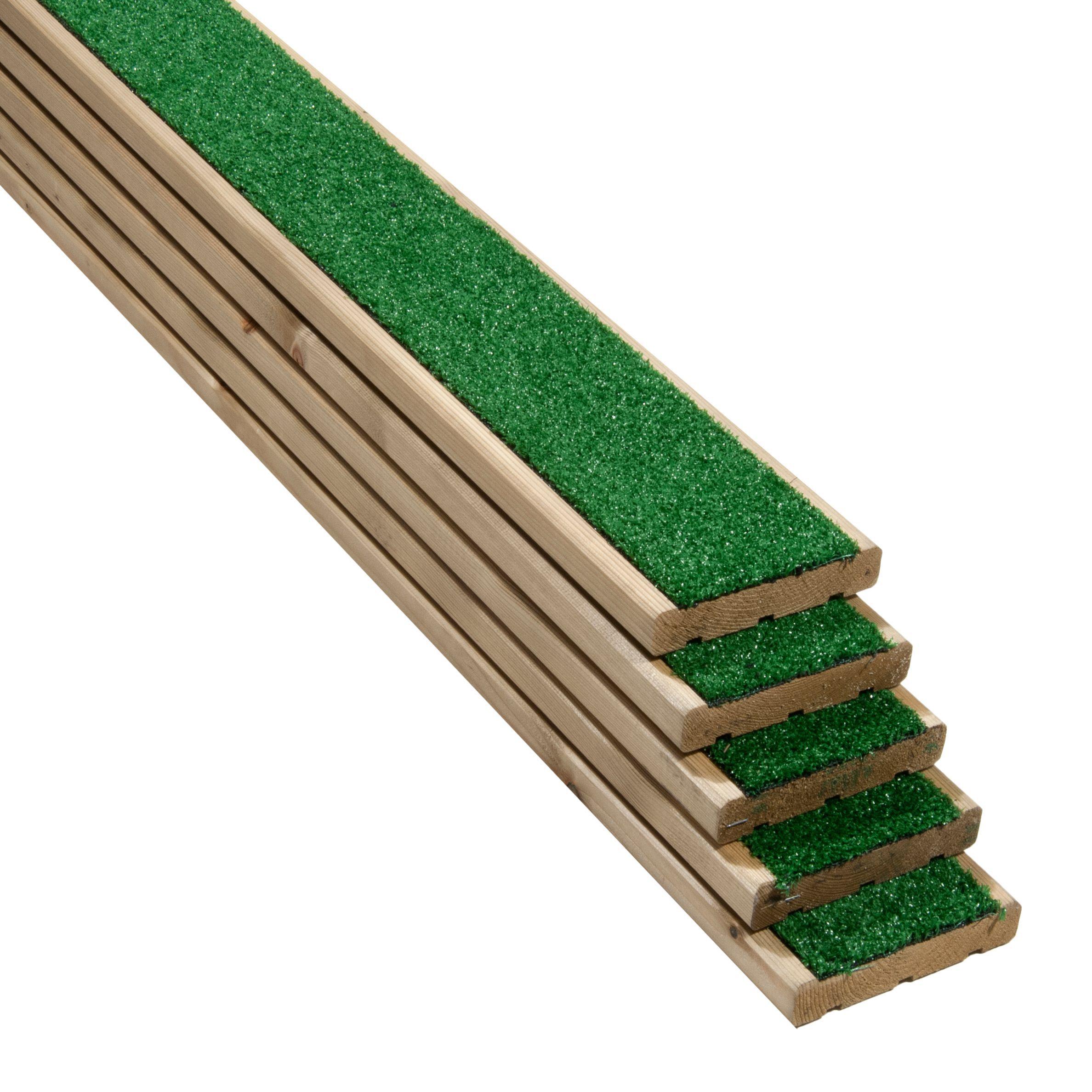 B Q Tile Cutter: Grassedeck Softwood Deck Board (T)28mm (W)144mm (L)2100mm
