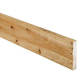 Timber Sawn Treated (T)19mm (W)100mm (L)2400mm, Pack of