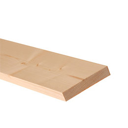 Timber Planed (T)18mm (W)119mm (L)2400mm, Pack of 8