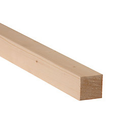 Smooth Planed Timber (T)34mm (W)34mm (L)1800mm Pack of